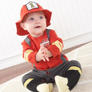 """Big Dreamzzz"" Baby Firefighter 2-Piece Layette Set (Personalization Available)"