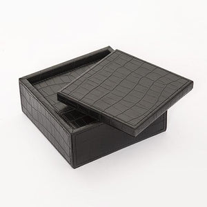 Black Croc Coaster set