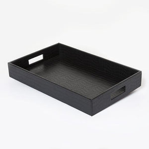 Black Croc Serving Tray