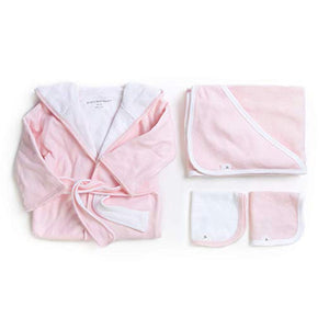 Burt's Bees Baby - Blossom Bathtime Gift Bundle - Includes Bathrobe, Hooded Towel & Washcloths, 100% Organic Cotton
