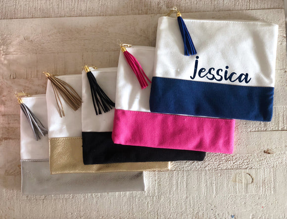 Canvas Tassel Pouch