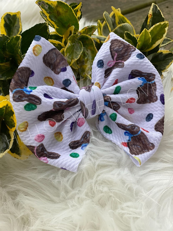 RTS- Chocolate Bunny Bow