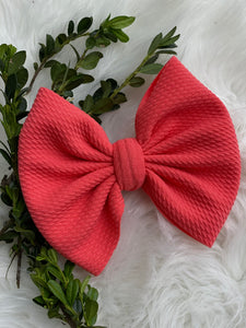 "RTS-coral pink 6"" bow"