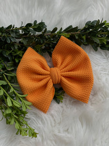 "RTS-pumpkin orange 6"" bow"