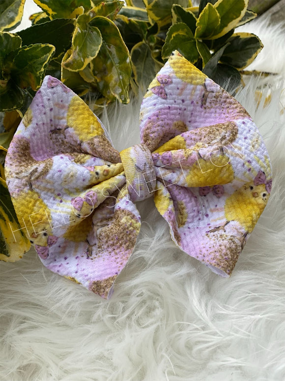 RTS- Easter Chick Bow