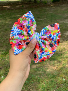 "RTS floral 6"" bow"