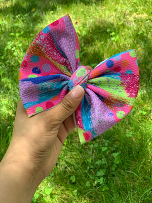 "RTS dotted glitter 6"" bow"