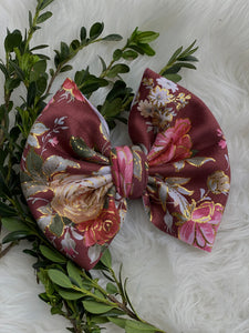 "RTS-fall floral 6"" bow"