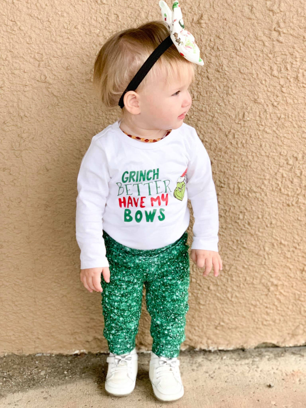 RTS EMERALD GLITTER LEGGINGS