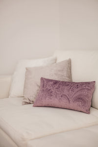 Plum Oblong Cushion