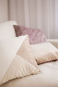 Latte Velvet Oblong Cushion