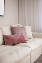 Load image into Gallery viewer, Dusky Rose Oblong Velvet Cushion