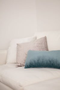 Teal Velvet Oblong Cushion