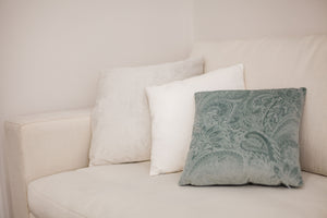 Misty Teal Square Cushion