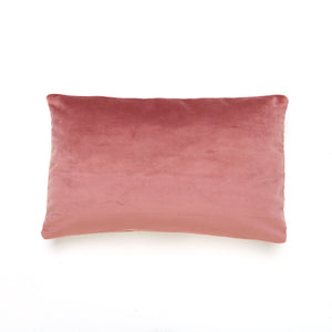 Dusky Rose Oblong Velvet Cushion