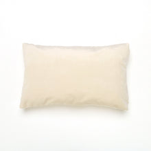 Load image into Gallery viewer, Ecru Velvet Oblong Cushion