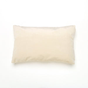 Ecru Velvet Oblong Cushion