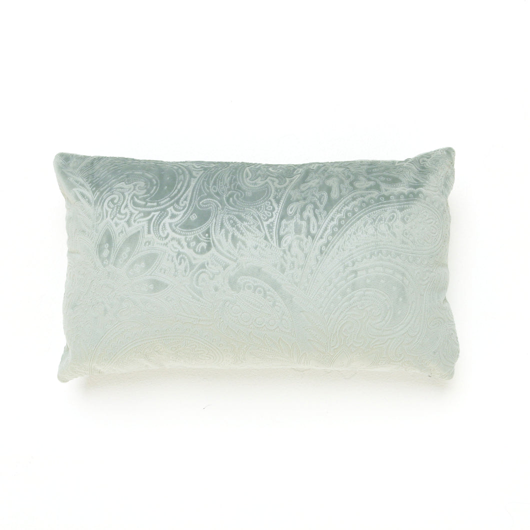 Misty Teal Oblong Cushion