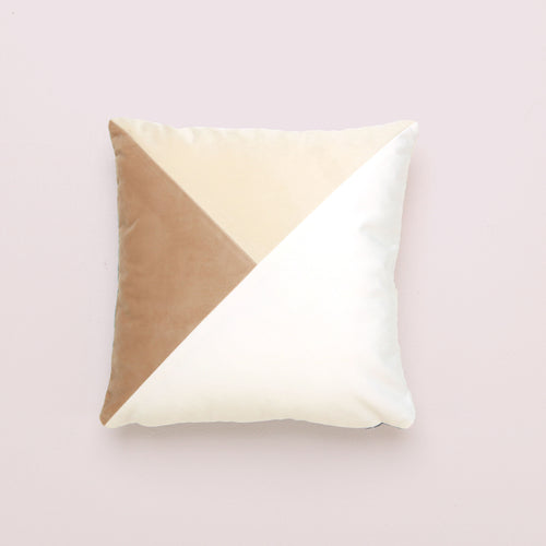 Neutral Patchwork Square Cushion