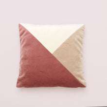 Load image into Gallery viewer, Dusky Pink Patchwork Square Cushion