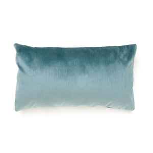 Wavy Teal Oblong Cushion
