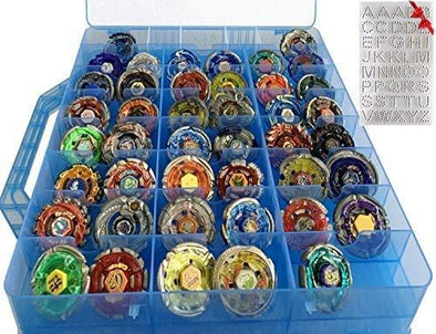 Beyblade Double Sided Storage Container - Organizer Case - 48 Compartments