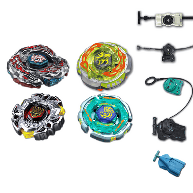 Beyblade 4 Pack L-Drago Destructor F:S, Variares BB-114, Rock Giraffe (Zurafa) BB-78, Ray Unicorno BB-71 + 1 Free Launcher
