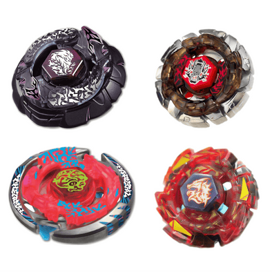 Beyblade Combo Bakushin Susanow Black - Thermal Lacerta - Dark Wolf - L-Drago Rush 4 Pack Red
