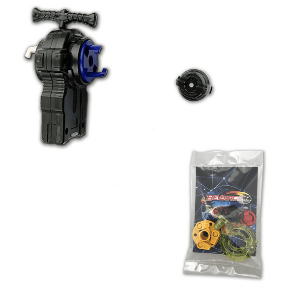L/R Power String Beyblade Launcher BB-115 with 5 Piece Customizing Combo Set