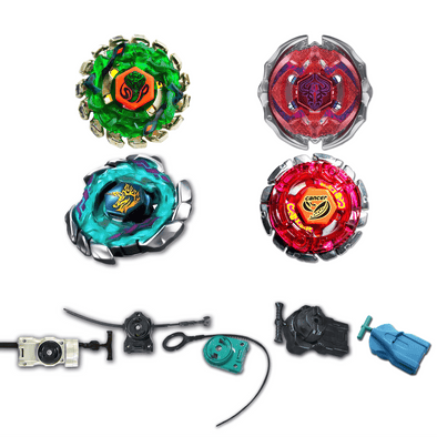 Beyblade 4 Pack Blitz Unicorno BB-117, Poison Serpent BB-69, Forbidden Eonis BB-116, Cancer BB-100 + 1 Free Launcher