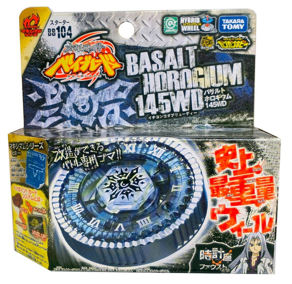 TAKARA TOMY Basalt Horogium / Twisted Tempo 145WD Metal Masters Beyblade BB-104