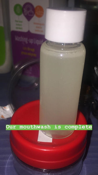 Fresh white mouthwash