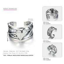 Load image into Gallery viewer, Sterling Silver Heart Ring