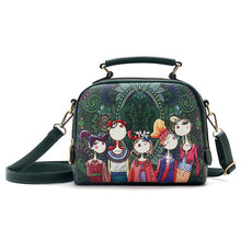 Load image into Gallery viewer, Designer luxury brand high quality PU leather  green cartoon handbag