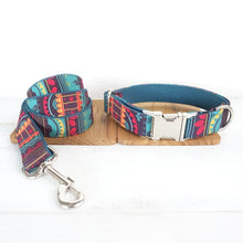 Load image into Gallery viewer, Top Quality Handmade Mayan Culture Design Dog Collar, Leash