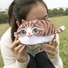 Load image into Gallery viewer, Cat Face Printed Zipper Coin Purses