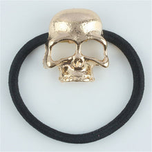 Load image into Gallery viewer, New 1 Pc Women Hot Fashion Punk Gothic Raven Skull Elastic Hair Rope Halloween Hair Accessories
