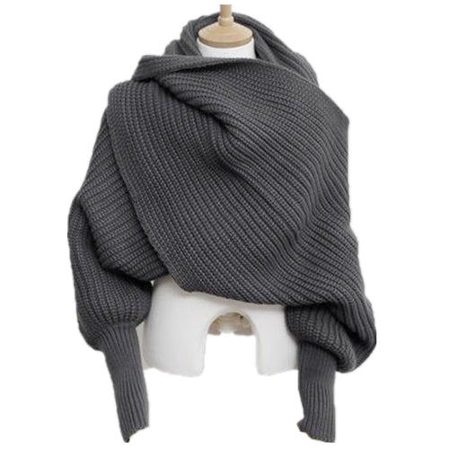 Winter Warm Long Sleeve Poncho Scarves
