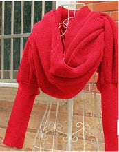 Load image into Gallery viewer, Winter Warm Long Sleeve Poncho Scarves