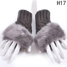 Load image into Gallery viewer, Imitation rabbit fur  finger-less gloves