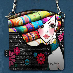 Fashion Women Messenger Bags Vintage Canvas Printing Small Satchel Shoulder European Style Girls Handbag Lady Crossbody Bag