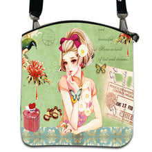 Load image into Gallery viewer, Fashion Women Messenger Bags Vintage Canvas Printing Small Satchel Shoulder European Style Girls Handbag Lady Crossbody Bag