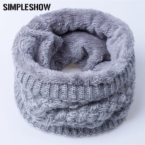 Children Scarf Thickened Wool Collar