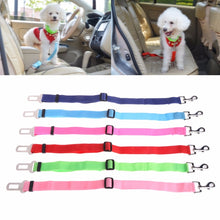 Load image into Gallery viewer, 1Pc Pet Car Seat Safety Belt Adjustable Harness