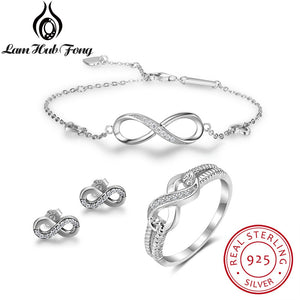 Sterling Silver Infinity Love Set