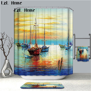 3D Scenery Waterproof Shower Curtain