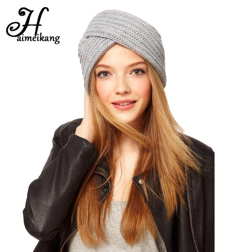 Knitted Turban Hats Cute Headband Head Wrap