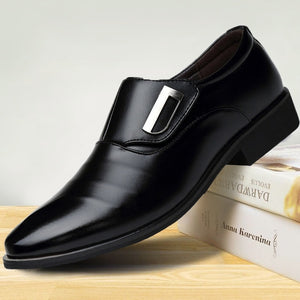 Men Leather Oxford  Classic Shoes