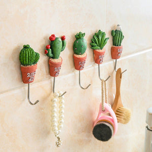 Magnetic Hooks Cactus Kitchen Wall Door