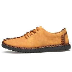 Comfortable Big size 38-46  Split Leather Shoes Men Flats Moccasins Shoes